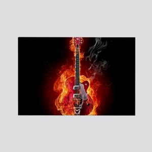 Flaming Guitar Magnets