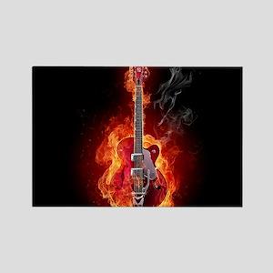 Flaming Guitar Magnets
