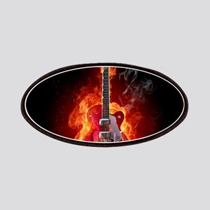 Flaming Guitar Patch