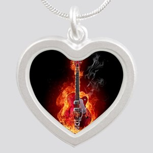Flaming Guitar Necklaces
