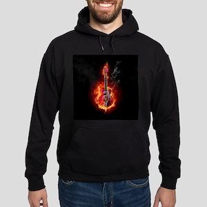 Flaming Guitar Hoody