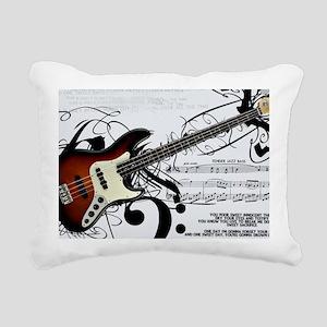 Guitar And Musical Notes Rectangular Canvas Pillow