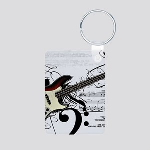 Guitar And Musical Notes Keychains