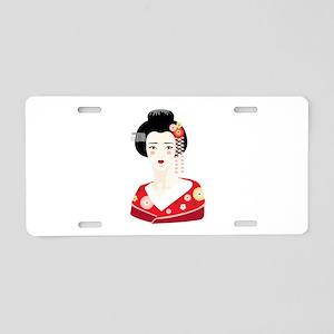 Japanese Geisha Aluminum License Plate