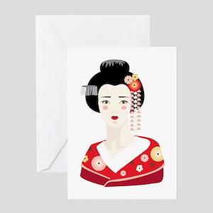 Japanese Geisha Greeting Cards