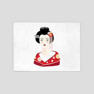 Japanese Geisha 5'x7'Area Rug