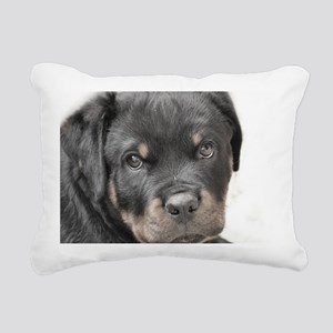 Rottweiler Puppy Rectangular Canvas Pillow