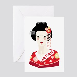Japan Geisha Greeting Cards