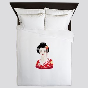 Japan Geisha Queen Duvet