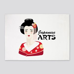 Japanese Arts 5'x7'Area Rug