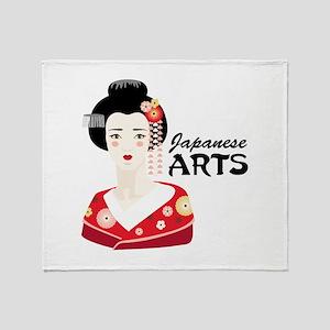 Japanese Arts Throw Blanket