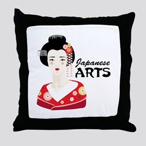 Japanese Arts Throw Pillow