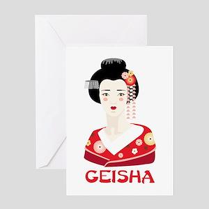 Geisha Greeting Cards