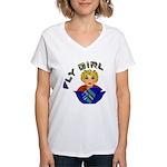 Fly Girl Women's V-Neck T-Shirt
