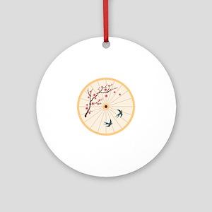 Oriental Umbrella Round Ornament