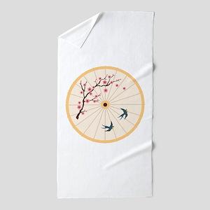 Oriental Umbrella Beach Towel