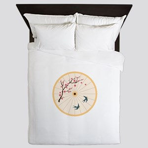 Oriental Umbrella Queen Duvet
