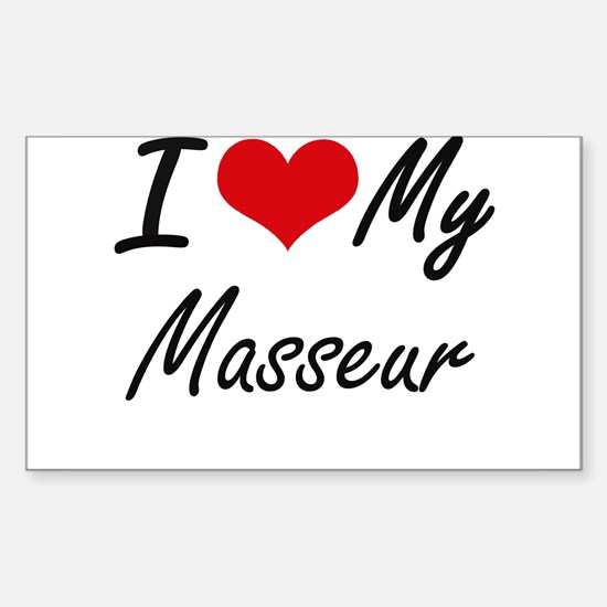 I love my Masseur Decal