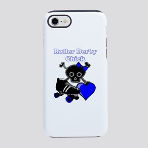 Roller Derby Chick (Blue) iPhone 8/7 Tough Case