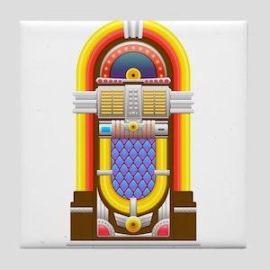 50s jukebox Tile Coaster