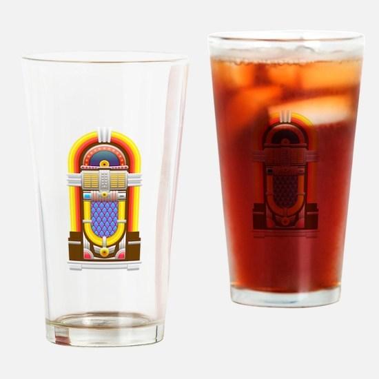50s jukebox Drinking Glass