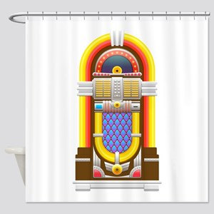 50s jukebox Shower Curtain