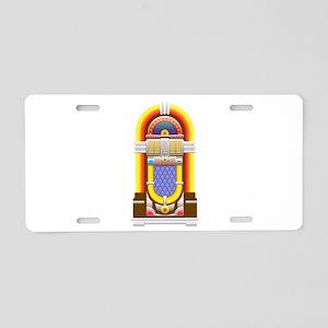 50s jukebox Aluminum License Plate