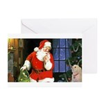 Santa And Roxy Greeting Cards (pk Of 10)