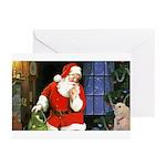 Santa And Roxy Greeting Cards (pk Of 10)