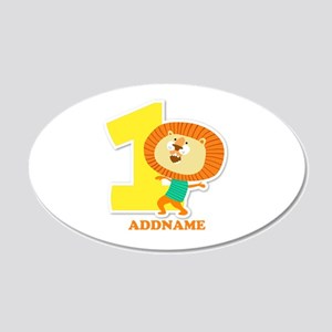 1st Birthday Personalized Na 20x12 Oval Wall Decal