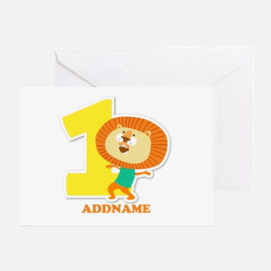 1st Birthday Personalized Name Greeting Card