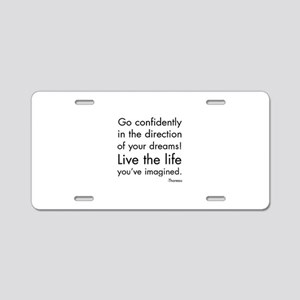 Go Confidently Aluminum License Plate