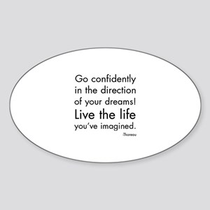 Go Confidently Sticker