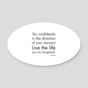 Go Confidently Oval Car Magnet