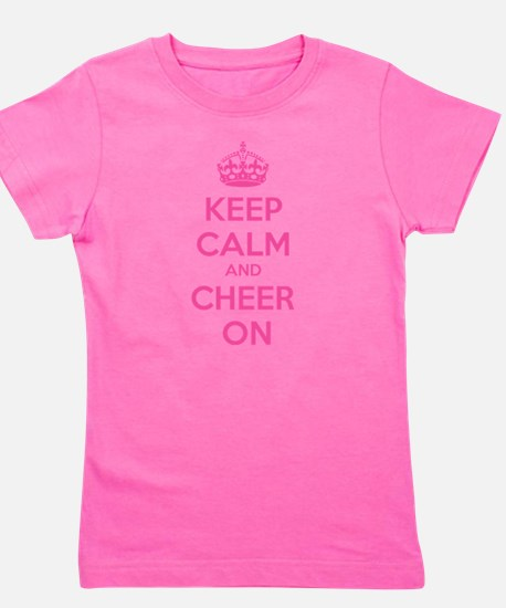 Keep calm and cheer on White T-Shirt