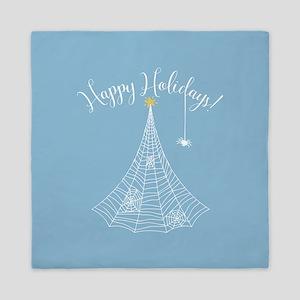 Spider Web Christmas Tree Queen Duvet