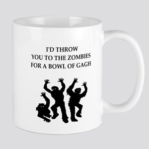 Zombie food joke Mugs