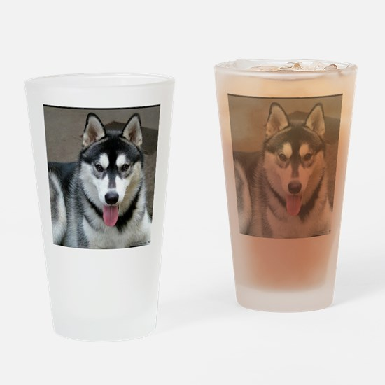 Funny Sled dogs Drinking Glass