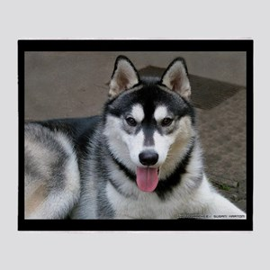 Alaskan Malamute Dog Throw Blanket