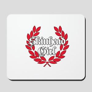 Skinhead Girl Red Mousepad