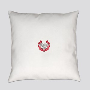 Skinhead Girl Red Everyday Pillow