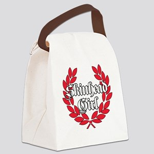 Skinhead Girl Red Canvas Lunch Bag