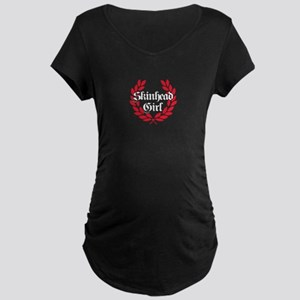 Skinhead Girl Red Maternity T-Shirt