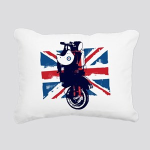 Union Jack Scooter Rectangular Canvas Pillow