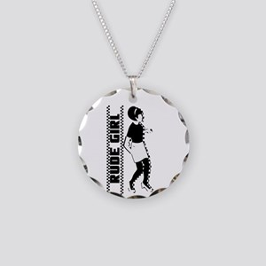 Rude Girl Necklace Circle Charm