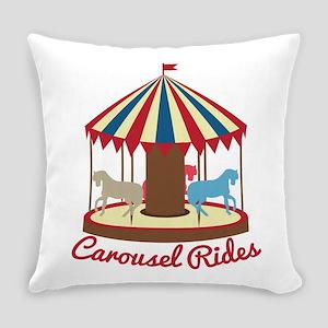Carousel Rides Everyday Pillow