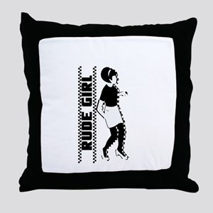 Rude Girl Throw Pillow