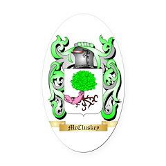 McCluskey Oval Car Magnet