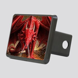 Angry Red Dragon Rectangular Hitch Cover
