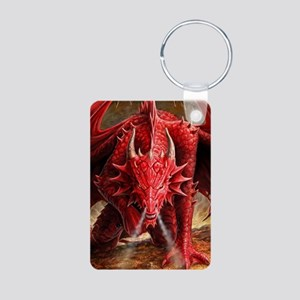 Angry Red Dragon Keychains